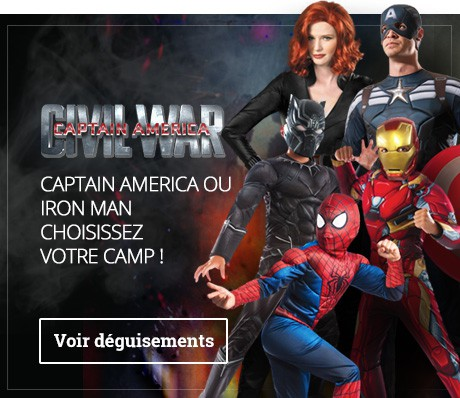 Déguisements Captain America Civil War