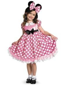 Costume de Minnie Mouse Clubhouse rose brillante dans le noir pour fille