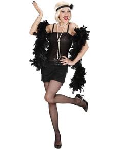 déguisement cabaret année 20 noir femme