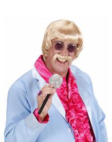 Perruque chanteur blond 60's