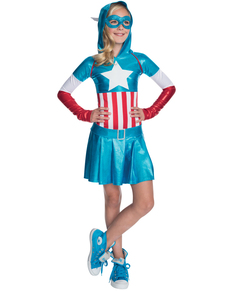 Vestido Costume Captain America fille