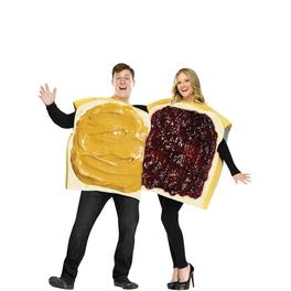 Déguisement couple sandwich beurre de cacahouète et confiture