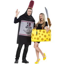Déguisement couple fromage et vin