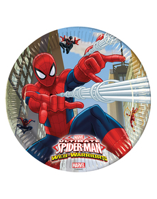 8 assiettes Ultimate Spiderman Web Warriors 23 cm