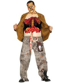T-shirt zombie étripé homme