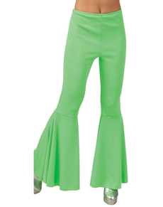 Pantalon Pattes d'eph vert femme