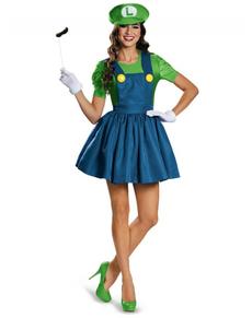 Déguisement brillant Luigi femme