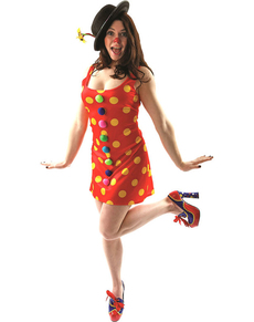Déguisement clown joyeuse femme